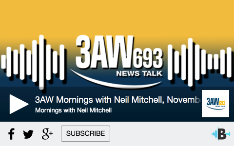 Ray's interiew on 3AW with Neil Mitchell